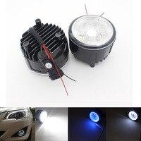 Automobiles Headlight Fog Light Car LED Bulb Daytime Running Lights Angel eyes Fog Lamp Fit For Nissan X Trail Tiida Murano