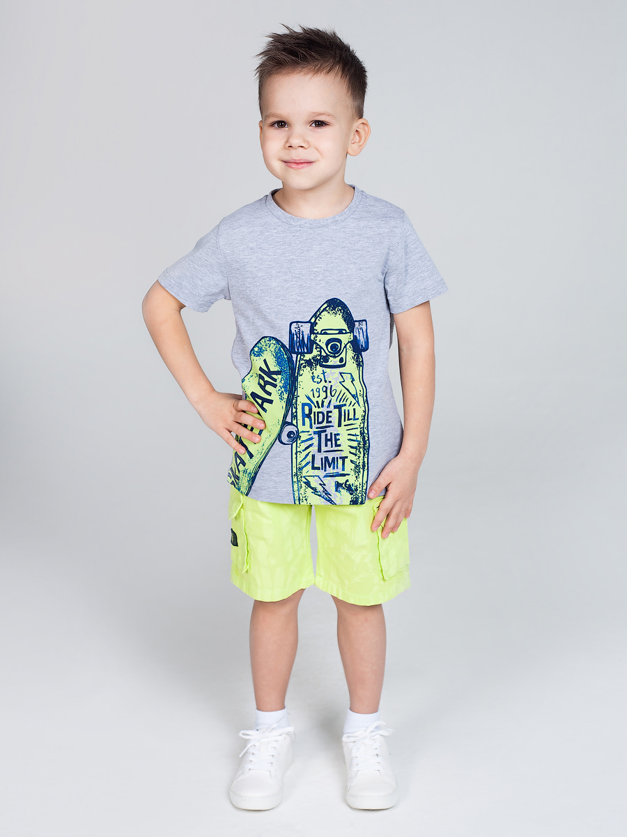 [Available with 10.11] Shorts textile for boys lace panel hollow out top with shorts