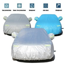 Car Cover Special For Kia Rio 2011- With Side Opening Zipper Dustproof Waterproof Sun Protection Cover Anti-theft