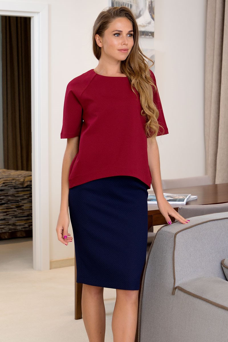 Skirt 2400113-22 double breasted pencil skirt