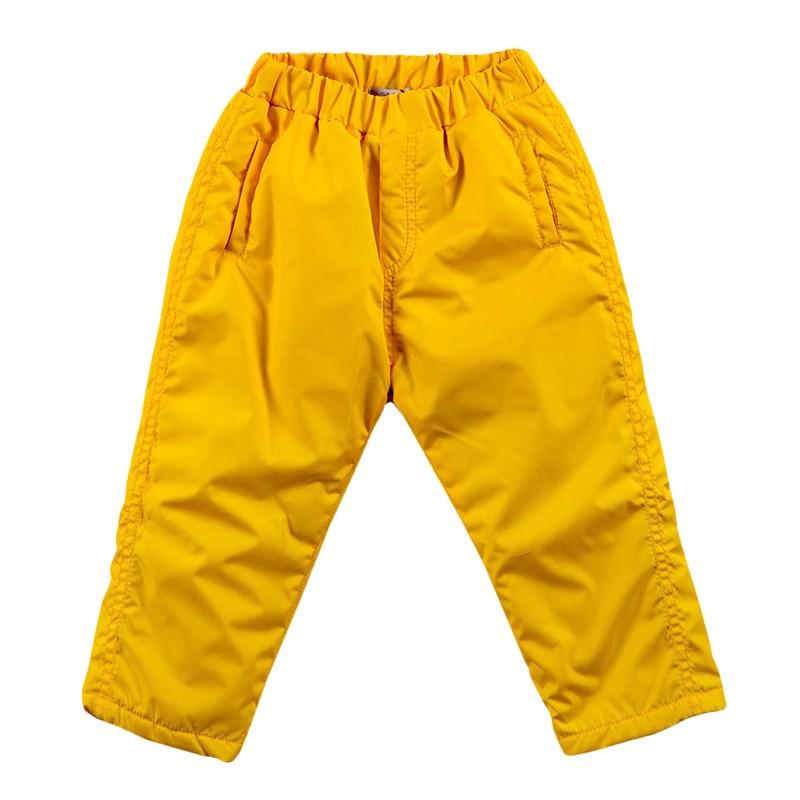 Basik Kids Pants warm yellow yellow lace up design high waist pants