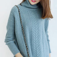 GABERLY Thicken Twisted Soft Cashmere Turtleneck Sweaters and Pullovers for Women Autumn Winter Jumper Female Knitted Brand