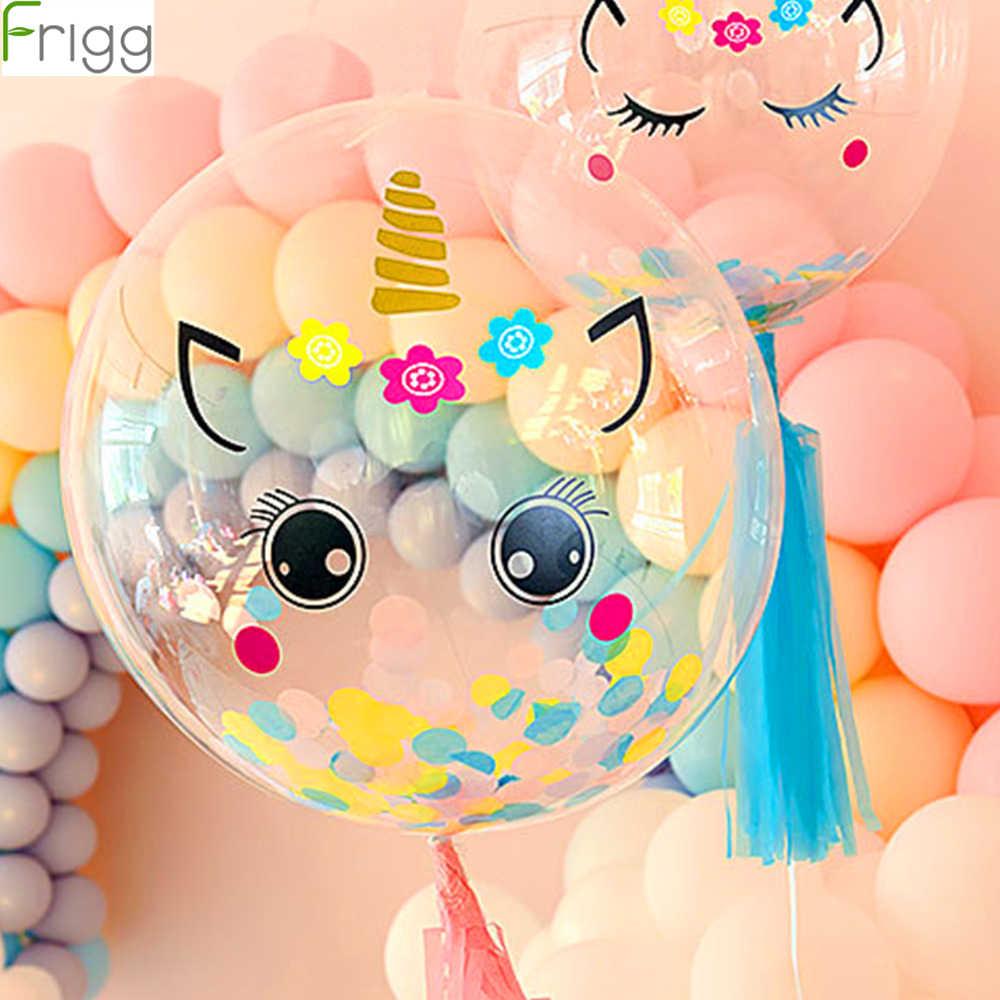 FAI DA TE Rosa Unicorn Partito Unicorno Palloncini Air Balloon Festa di Compleanno Decorazioni Bambini Baloons Compleanno Palloncino In Lattice Balon Elio