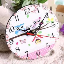 Vintage Wooden Round Square Wall Clock Large Shabby Chic Rustic Kitchen Home Antique Living Room Decorations