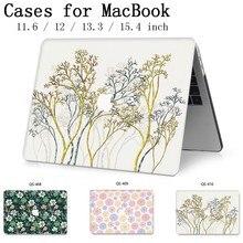 Novo Para MacBook Air Pro Retina 11 12 13 15 Para 2019 Apple Caso Laptop Saco 13.3 15.6 Polegada Com protetor de tela Teclado saco Enseada