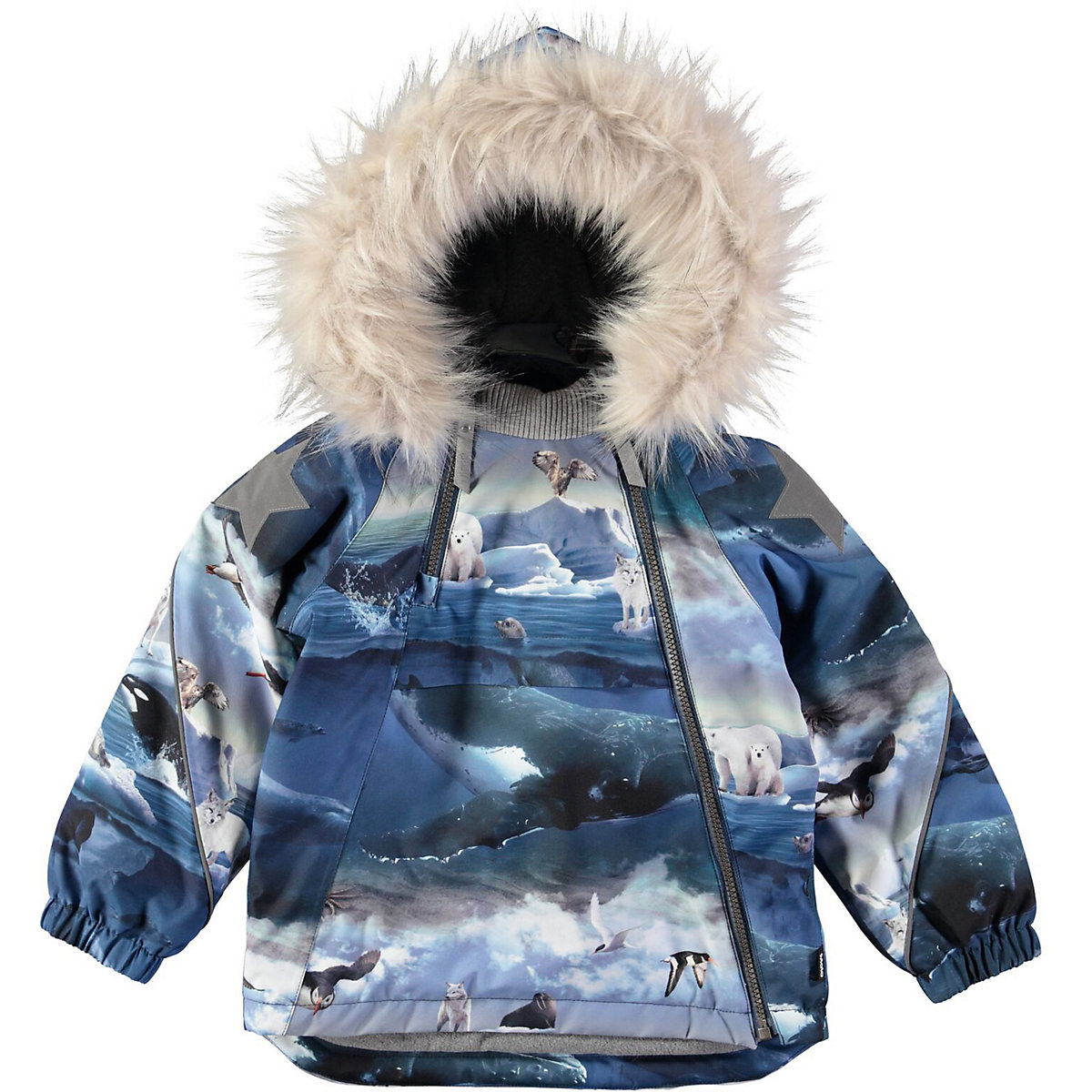 Jackets & Coats MOLO for boys 9170700 Jacket Coat Denim Cardigan Warm Children clothes Kids icebear 2018 short women parkas cotton padded jacket new fashion women s windproof thin cotton jacket warm jacket 16g6117d