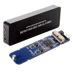 Image 2 - NGFF ноутбук Air Pro 2013 2014 2015 2016 SSD портативный чехол USB 3,0 до 16 + 12 Pin Мобильный Корпус для жесткого диска