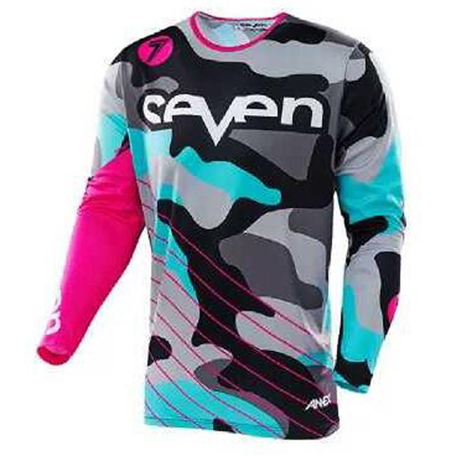 2018 Seven motocross jersey downhill camiseta ropa mtb Long Sleeve Moto Jersey mountain bike dh shirt mx motorcycle clothing in Cycling Jerseys from Sports Entertainment
