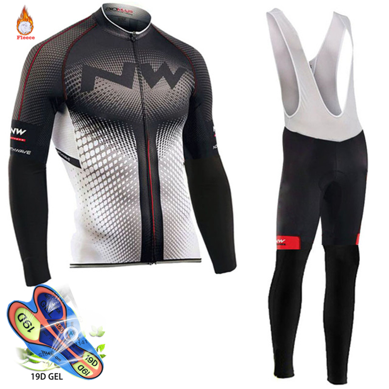 2018 Northwave Pro Team Winter Cycling Clothing Breathable Ropa Ciclismo Long Sleeve MTB Bike Clothes Outdoor Sports Clothing
