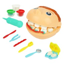 3D Color Clay Mold Toys Plasticine Modeling Tool Kit For Children Dental Doctor Role Playing Kid Girl Playdough Educational To(China)