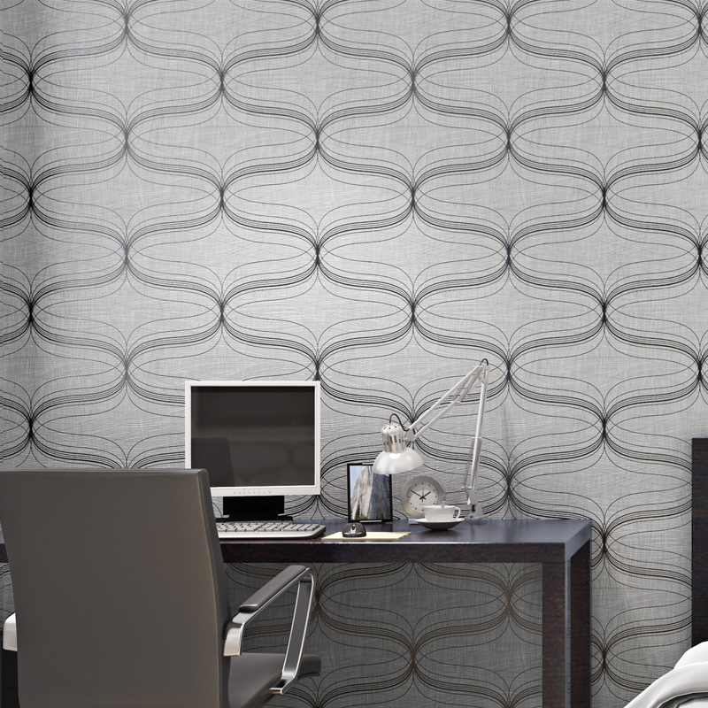 Roll De Parede Modern Curve Wallpapers Papel Abstract Geometric Wood Fiber For Walls 3 D Wallpaper Roll For Living Room B
