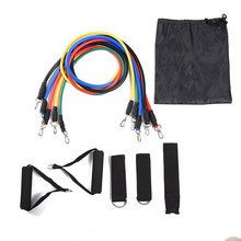 11pcs/set  Resistance Bands Pull Rope Fitness Exercises Crossfit Latex Tubes Pedal Excerciser Body Training Set Workout Yoga Gym