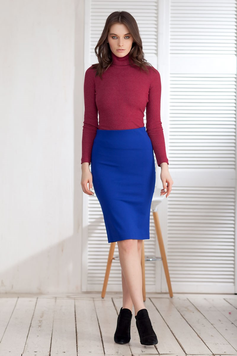 Skirt 2400109-21 double breasted pencil skirt