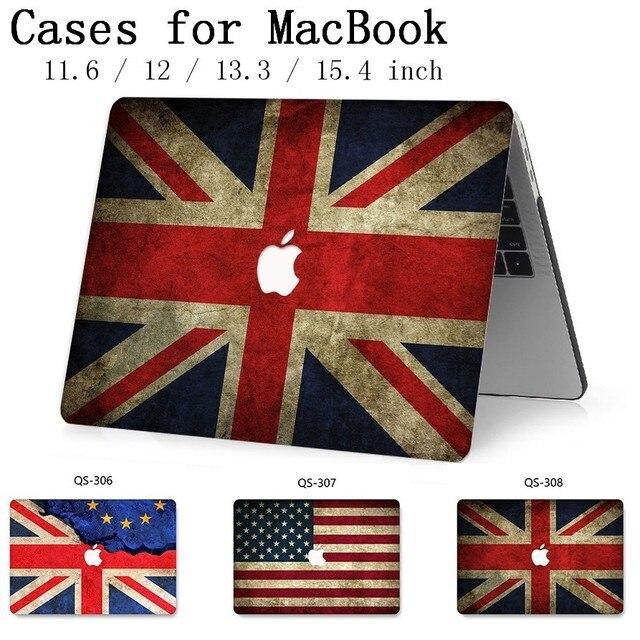 Funda para portátil Macbook Air Pro Retina 11 12 13 15,4 para Macbook 13,3 de 15,6 pulgadas con Protector de pantalla teclado Cove regalo