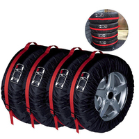 4pcsCar Tire Protection Cover Spare Tire Cover Snow Tire Dust Cover Convenient Collection Storage Bag Universal Tire Storage Bag