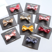 Hot 1PC High Quality Hair Pins Bowknot Clip Kids Popular Children Girls Baby Acccessories