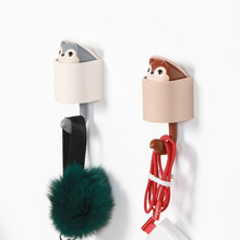 JD Creative Squirrel Coat Rack Hanger Clothes Shoes And Hat Hooks Cute Storage Racks Furniture Supplies