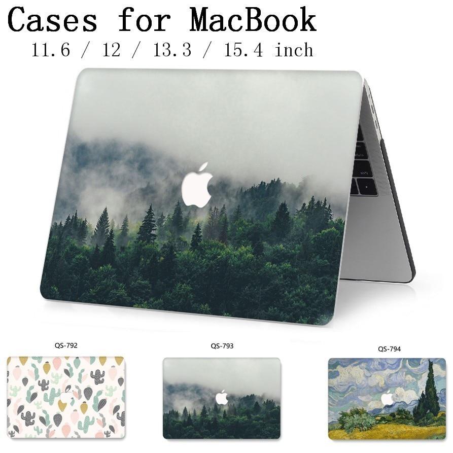 2019 Saco Novo Laptop Case Para Apple MacBook Air Pro Retina 13.3 15.4 11 12 13 15 Polegada Com Toque bar + Teclado Enseada Funda Manga