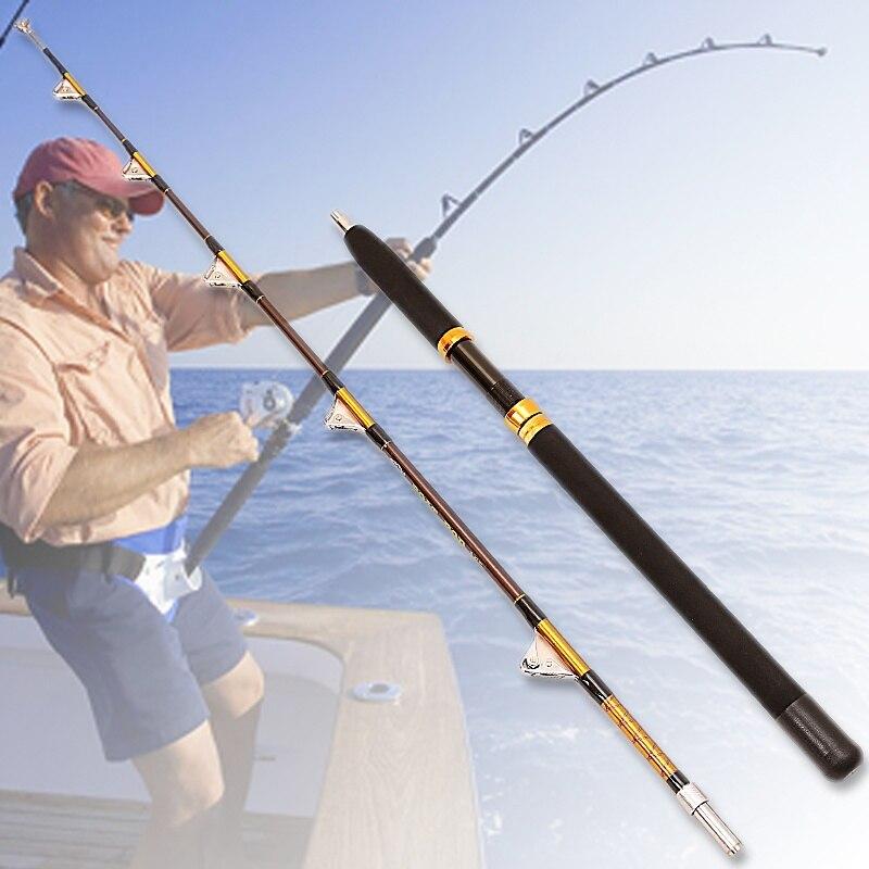 50-100lb soulèvement fort bateau 1.65 m 2 Sections pêche à la traîne jig canne à pêche grand jeu eau salée lente canne à pêche