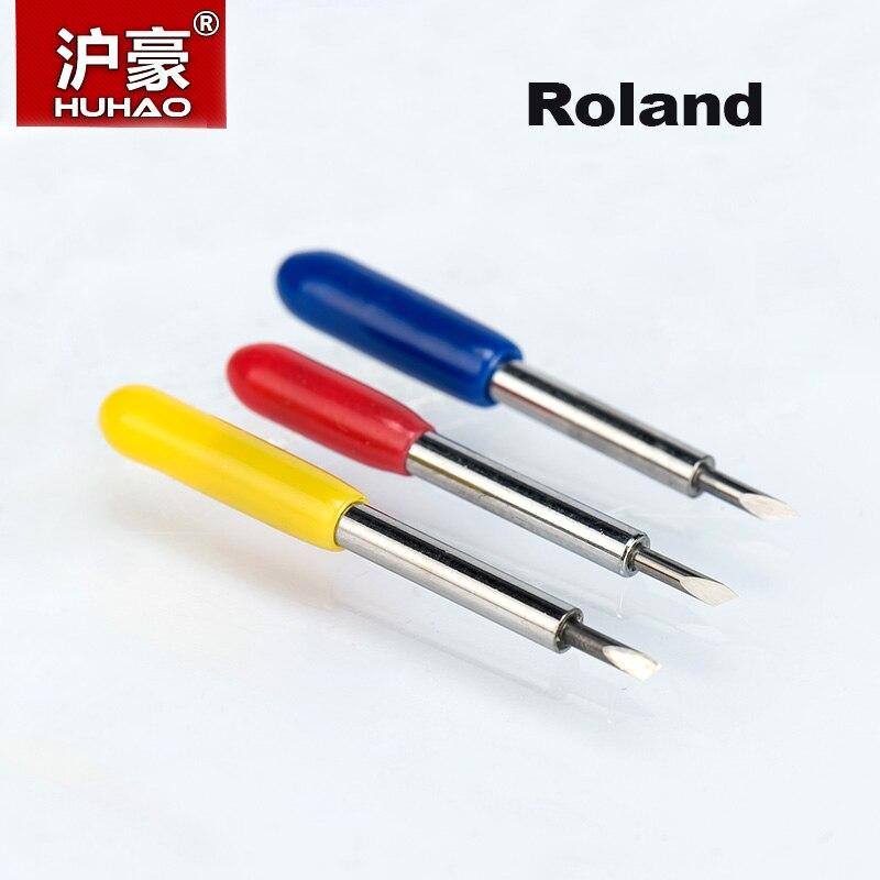 HUHAO 5PC/lot Roland Plotter Cutter 30/45/60 Degree Tungsten Blades Cutting Plotter Vinyl Cutter Knife For ROLAND Cutter Blade