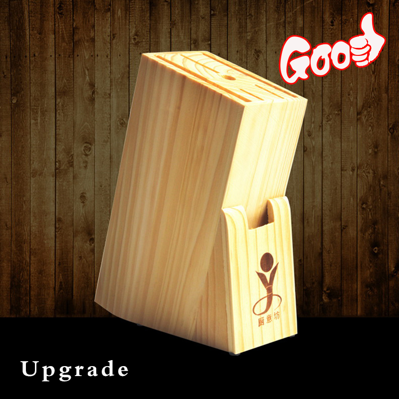 Upgrade Multifunctional Holes Bamboo Knife Rack Storage Rack Tool Wood Kitchen Knife Holder Knife Stand Block Organizer Tool