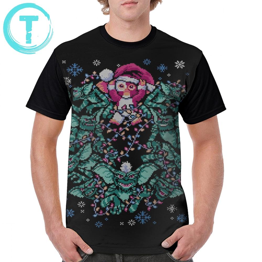 Gremlins T Shirt We Wish You A Gremlin Christmas T-Shirt Plus Size Short Sleeves Graphic Tee Shirt Funny Polyester Print Tshirt