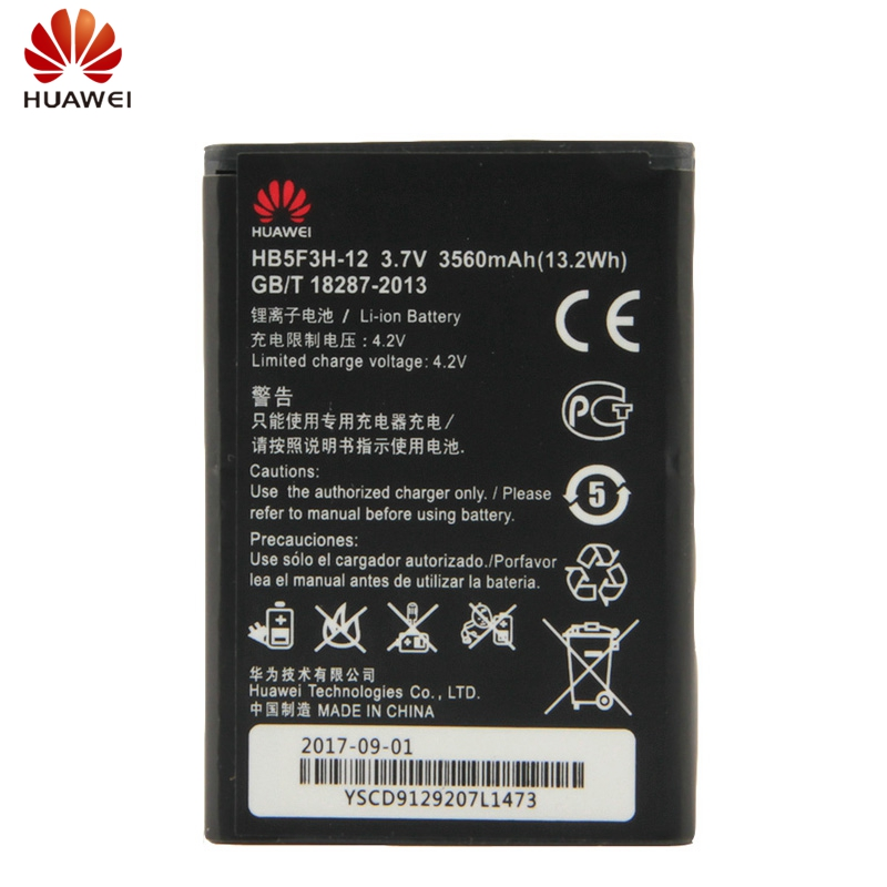 HuaWei Original HB5F3H 12 Battery For Huawei E5372T E5372s E5775 4G LTE FDD Cat4 WIFI Router Replacement Battery 3560mAh in Mobile Phone Batteries from Cellphones Telecommunications