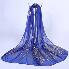Fashion 2019 New Embroidered Chiffon Soft Women Scarves  Comfortable Sunscreen beach ladies scarf