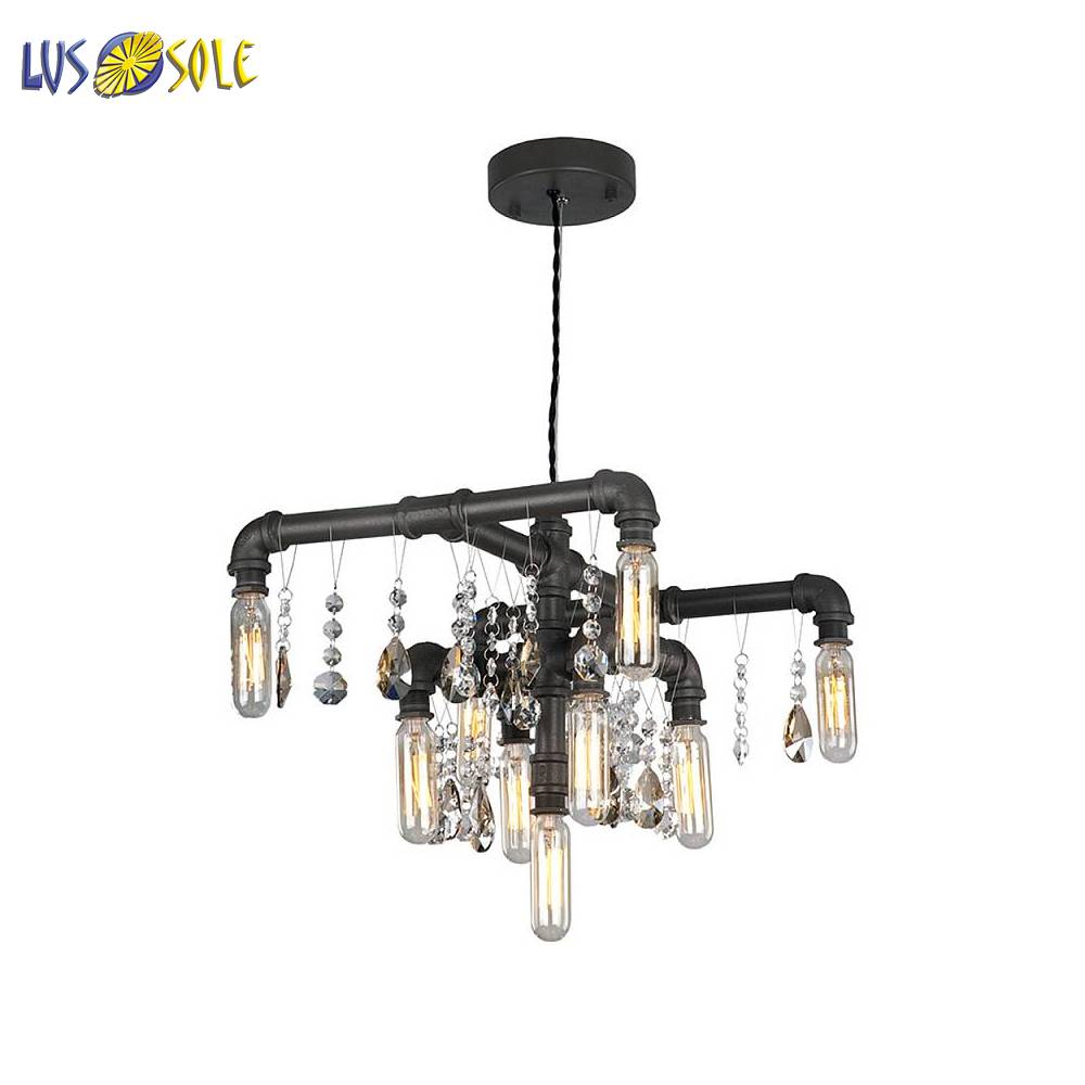 Chandeliers Lussole 26509 ceiling chandelier for living room to the bedroom indoor lighting jueja modern crystal chandeliers lighting led pendant lamp for foyer living room dining bedroom