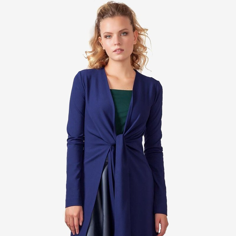Cardigan 1700404-22 shawl collar long sleeve one button cardigan