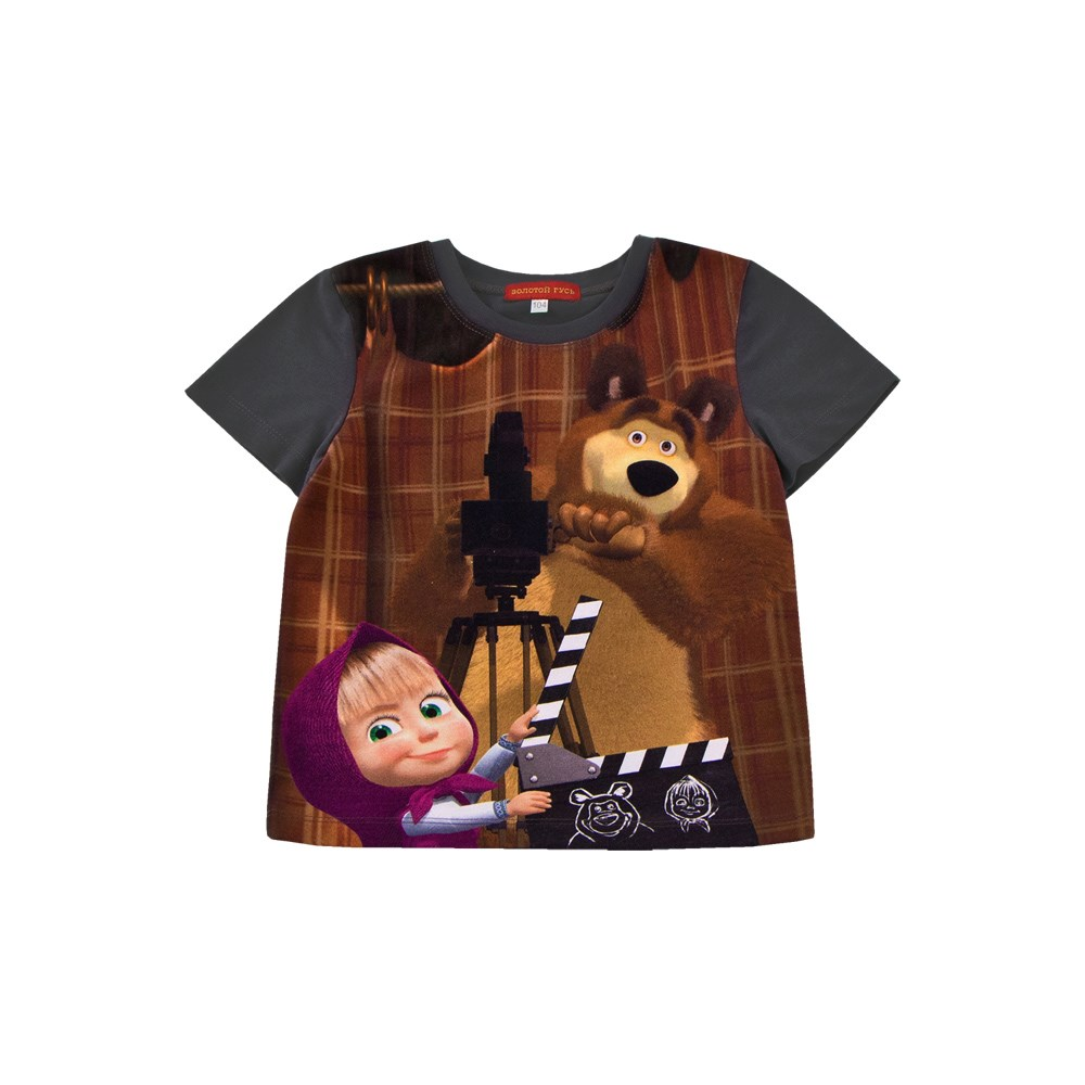 Masha and Bear Shirt T-shirt kids clothes children clothing kids clothes children clothing summer kids clothes suit for girls 3 13 years children army green cotton shirt clothing set boys girls clothing sport suit 174b