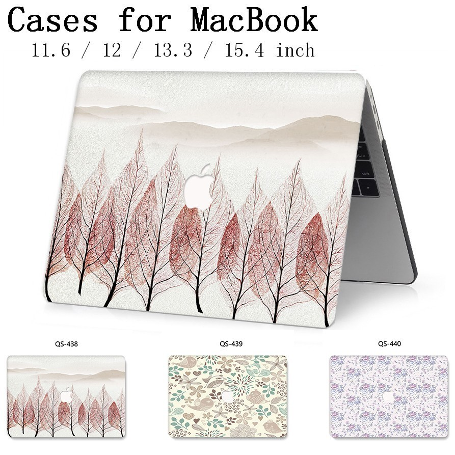 Hot For Apple MacBook Air Pro Retina 11 12 13 15 For New Laptop Case Bag 13.3 15.4 Inch  With Screen Protector Keyboard Cove tas-in Laptop Bags & Cases from Computer & Office