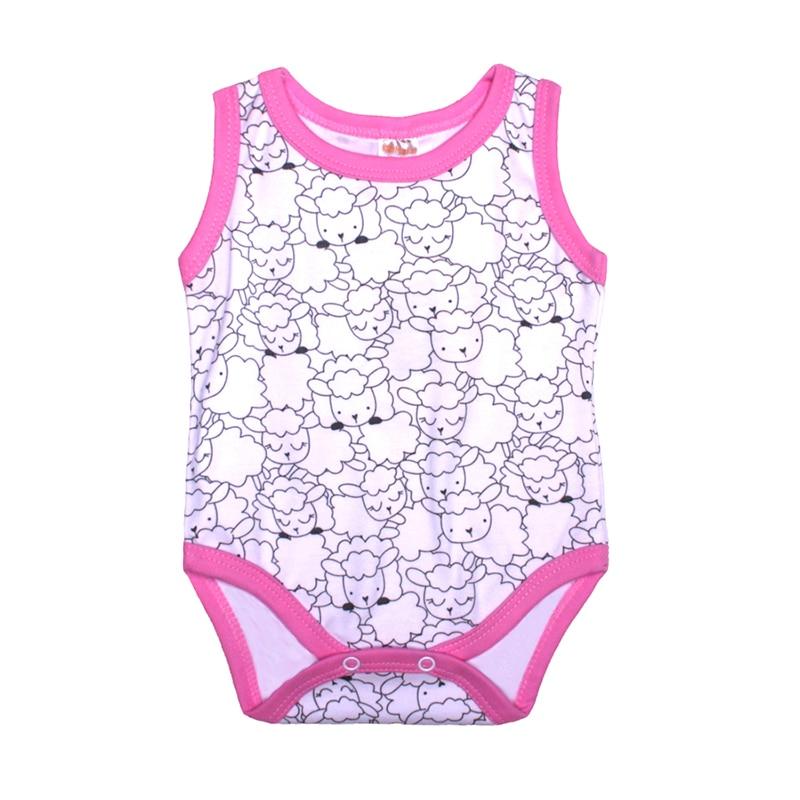 Kotmarkot Baby Girls Bodysuits Little Lamb Pink 9055 2pcs new baby dolphin hairgrips girls hair clips cute lamb hair accessories infant headwear hairpin children rabbit barrette j8