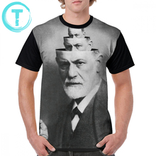 Psychology T Shirt The Mind Of Freud T-Shirt Beach Awesome Graphic Tee Short-Sleeve Printed 100 Polyester Big Men Tshirt