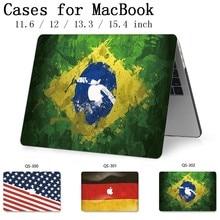 맥북 에어 프로 레티 나 11 12 13 15.4 노트북 가방 케이스 핫 맥북 13.3 15.6 인치 스크린 프로텍터 키보드 코브 선물