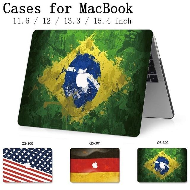 Для MacBook Air Pro retina 11 12 13 15,4 сумка для ноутбука чехол для горячего Macbook 13,3 15,6 дюймов с защитой экрана клавиатуры в подарок