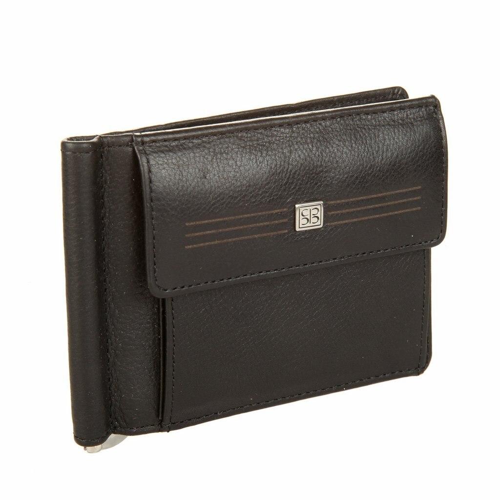 Money clip Sergio Belotti 2322 West black 2017 men leather brand luxury wallet vintage minimalist short male purses money clip credit card dollar price portomonee