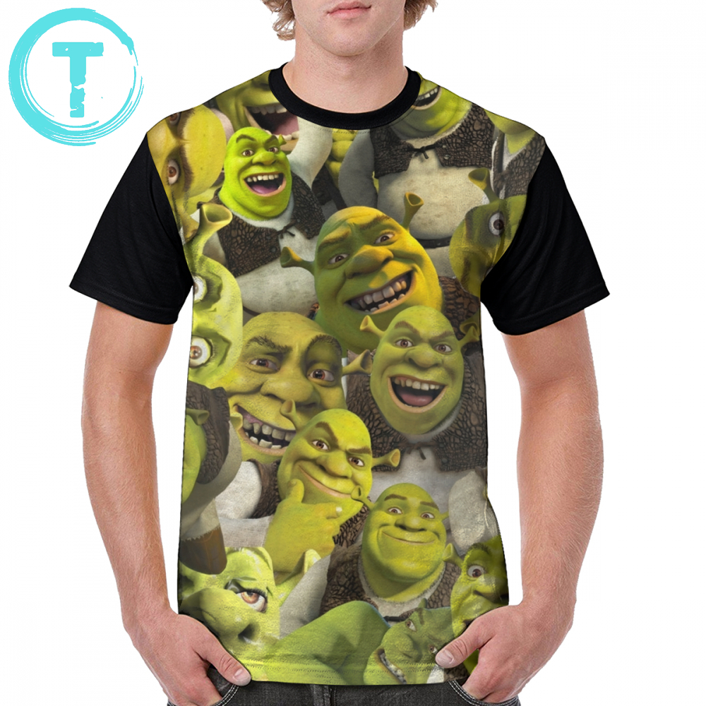 Shrek T Shirt Shrek Collage T-Shirt 100 Polyester Short Sleeves Graphic Tee Shirt Man Oversized Funny Printed Casual Tshirt