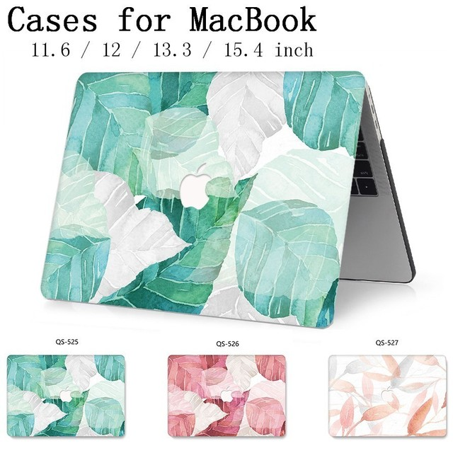 New Laptop Case For MacBook 13.3 15.4 Inch For MacBook Air Pro Retina 11 12 13 15 With Screen Protector Keyboard Cove Apple Case