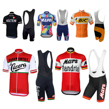 NEW Cycling Clothing Suit Racing Bike Bib Multi Retro Classical Team Pro Cycling Jersey Set Shorts Customized Road Mountain Race