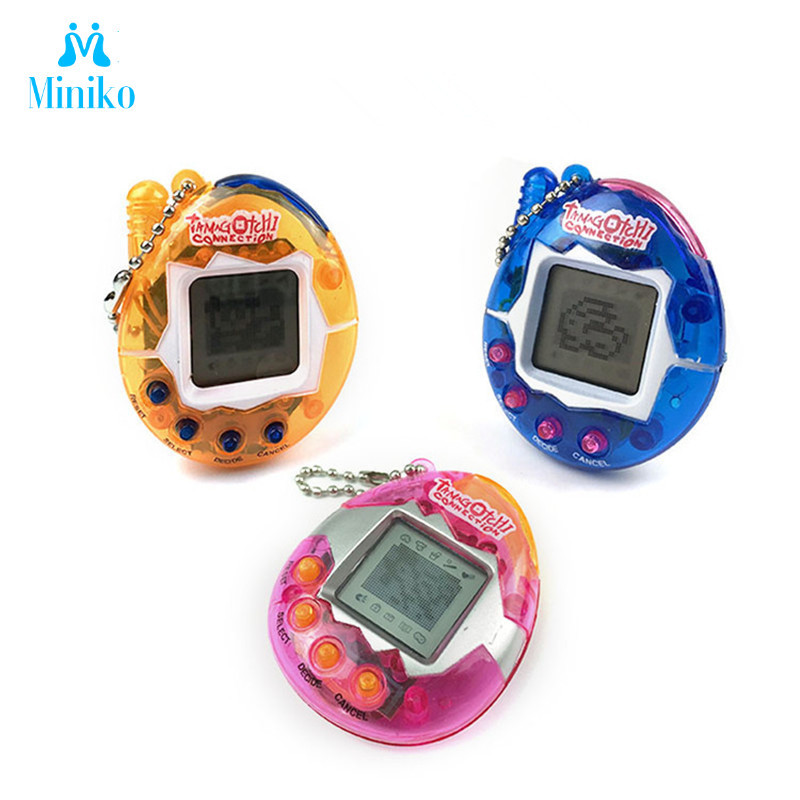 3 Pcs Set Multi-colors 90s Nostalgic 49 Pets In 1 Virtual Cyber Pet Toy Tamagotchis Electronic Pets Keychains Toys