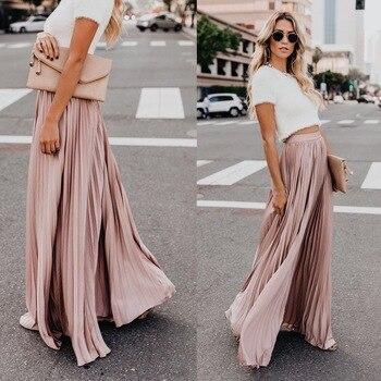 f8209771a Falda blanca plisada de gasa sólida plisada Mini falda de tul Irregular de  cintura alta elástica ...