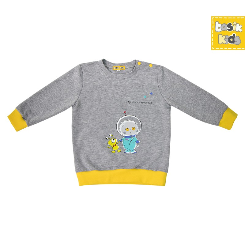 все цены на Basik Kids Blouse long sleeve gray melange