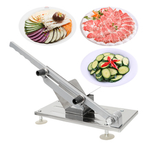 Mutton roll slicer meat planer household manual cutting machine frozen cooked beef cut meat machine hot pot shop commercial factory price beef mutton chicken chicken heart manual doner kebab meat skewer maker meat string machine