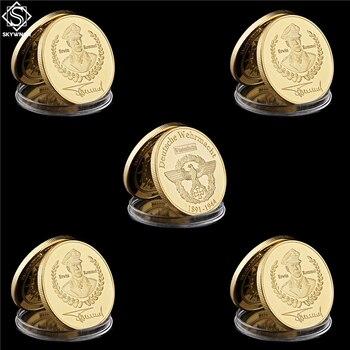 Juego de monedas conmemorativas de África 5 uds. De la segunda guerra mundial del desierto zorro Deutsche Erwin Rommel África