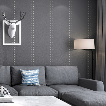 Soft Wave Point Deerskin Gray Rivet Thickening Wallpaper Nordic Living Room Tv Sofa Background Wall Solid Color Wallpaper 3d