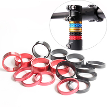 SMLLOW 5/10mm Bike Fork Fine-tuning Washers Aluminum Alloy 6 pcs Bicycle Washers Stem Spacers Bike Headset Raise Handlebar Parts quality aluminum alloy om136 1 chakra and 4096hz crystal tuning fork