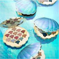 14 Colors Mermaid Glitter Eyeshadow Palette Dish Earth Color Eyes Shadow Shell Shape Pearl Matte Makeup Eye shadow
