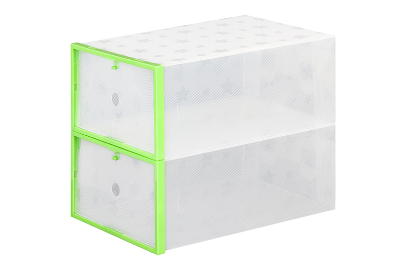 Available from10.11 Set of 2 boxes for storing shoes Light green frame EL Casa 680031 flashing green el bootlaces shoelaces pair