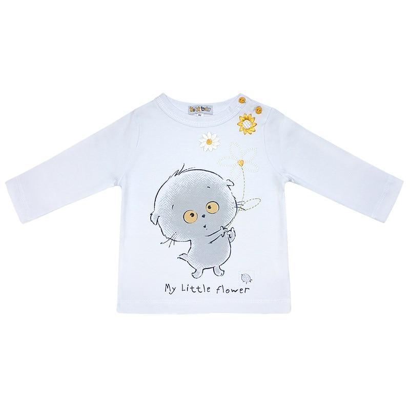 Basik Kids Shirt basik kids long sleeve t shirt white